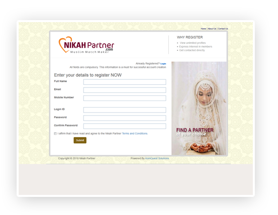 Matrimonial Web Application